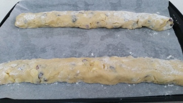 biscotti ready for oven